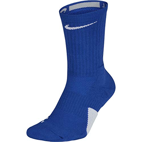 Nike Elite Basketball Crew Socks Game Royal/White Size Large
