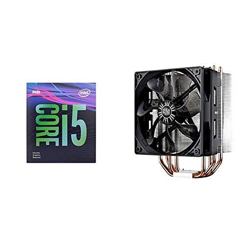 Intel Core i5-9400F Desktop Processor 6 Cores 4.1 GHz Turbo Without Graphics & Cooler Master Hyper 212 Evo CPU Cooler, 4 CDC Heatpipes, 120mm PWM Fan, Aluminum Fins for AMD Ryzen/Intel LGA1200/1151