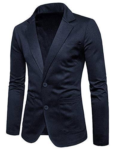 COOFANDY Men's Slim Fit Blazer Casual Two Button Cotton Solid Suit ()