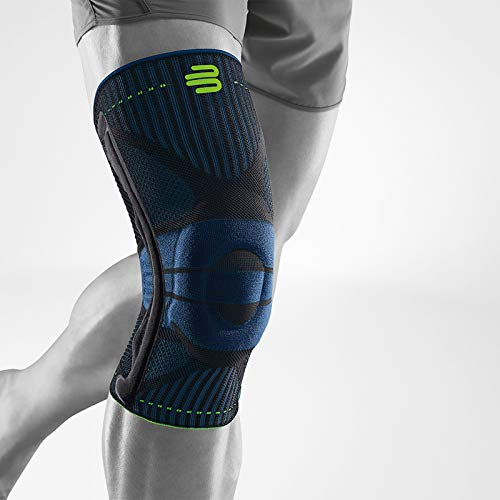 (Bauerfeind Sports Knee Support - Knee Brace for Athletes with Medical Grade Compression - Stabilization and Patellar Knee Pad (Black, XL))