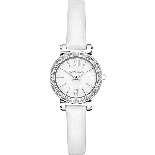 Michael Kors Watches Womens Sofie Stainless-Steel and White Leather Watch