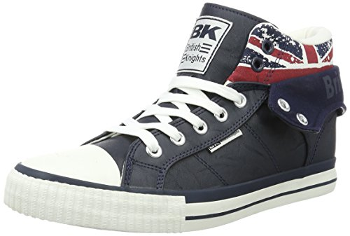 British Knights Women BKC-3702 High Top Trainers Blue (Navy - Unio Jack 1)