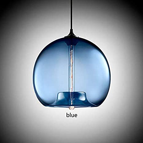 Lámpara de techo de bola de cristal de 6 colores, accesorios de ...