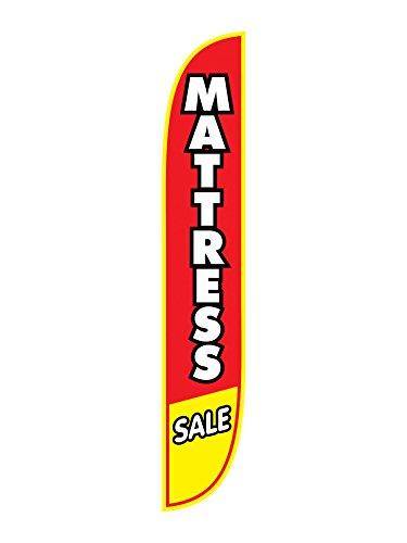 LookOurWay Mattress Sale Feather Flag, Red, 12-Feet