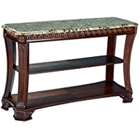Ashley Furniture Signature Design - Ledelle Sofa Table - Vintage Style - Rectangular - Brown