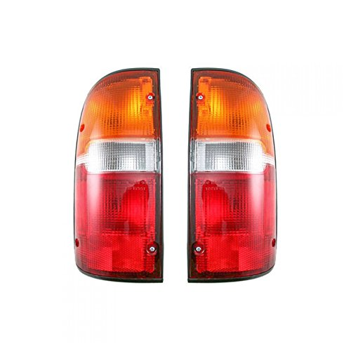 Taillights Taillamps Rear Brake Lights Pair Set for 95-00 Tacoma Pickup Truck