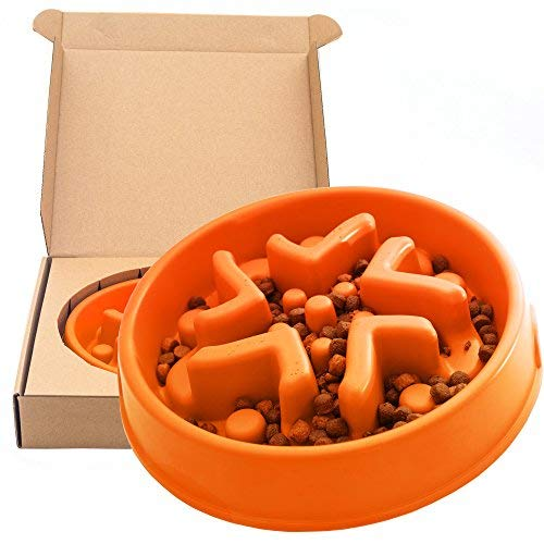 Simply Pets Online Dog Puzzle Feeder - Non Plastic, Slow Feeder Dog Bowl, Made from Bamboo Fiber