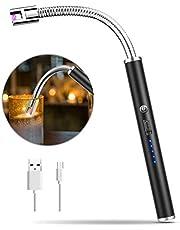 MOSUO Kaarsaansteker Oplaadbaar, Aansteker met elektrische boogaansteker met USB-kabel, Winddichte elektronische aanstekers zonder vlammen voor keuken, Barbecue, Kaarsen, Gasfornuis, BBQ, Sigaret