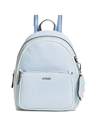GUESS Factory Women's Chandler Saffiano Faux-Leather Flower Charm Backpack