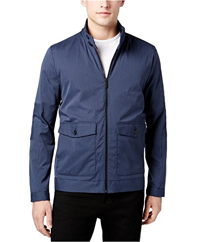 Calvin Klein Navy Mens Full-Zip Mock-Neck Jacket Blue XL by Calvin Klein