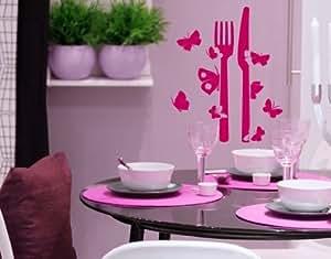 Style & Apply - Butterfly Silverware - wall decal, sticker, mural vinyl art home decor