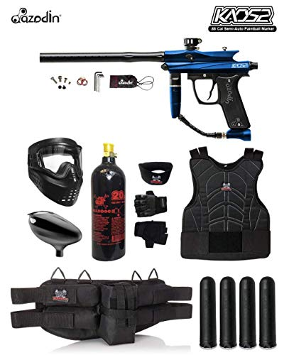 MAddog Azodin KAOS 2 Starter Protective CO2 Paintball Gun Package - Blue/Black