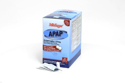325 Mg 250 Tablets - Medique Products 14513 Apap Pain Relief Tablets, 250-Packets of 2, Non-Aspirin