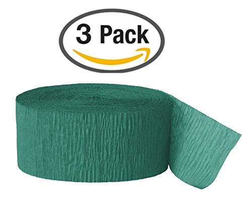 Unique Industries Crepe Party Streamer, 81 Feet, Emerald Green (Pack of 3) (Streamers Unique compare prices)