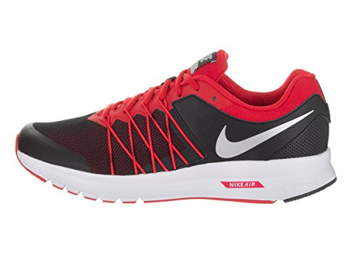 Nike Mens Luft Obevekliga 6 Löparsko Svart / Röd