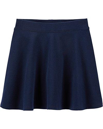 OshKosh B'Gosh Girls' Kids Uniform Ponte Skirt, Navy, 4-5 -