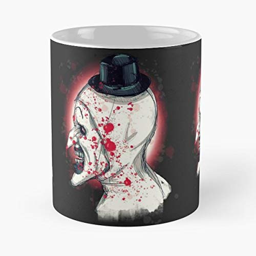 Art The Clown Terrifier Horror Hallows Eve - 11 Oz Coffee Mugs Unique Ceramic Novelty Cup, The Best Gift For Halloween.