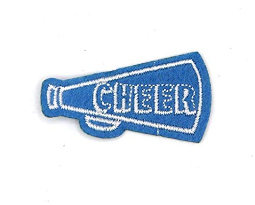 Cheer Megaphone Cheerleading Squad Patch, w: 2 inches x h: 1.125 inches (CB-539)