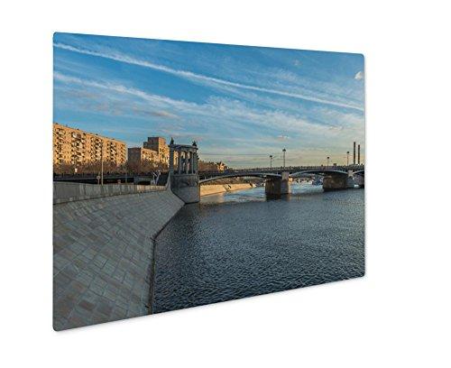 Ashley Giclee Metal Panel Print, Moscow Russia April 11 2016 Borodinsky Bridge In Moscow, 8x10