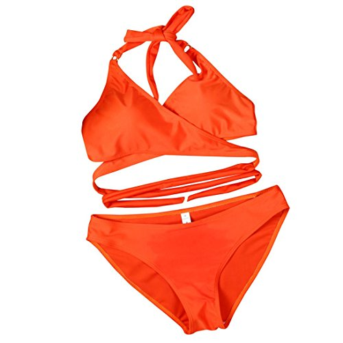 della Set Swimwear Bikini da Arancione up Donne Tops Mutande Estate Reggiseno Costume Costume da Stampa Push spiaggia Costumi bagno Imbottito bagno Suit bagno Sexy feiXIANG da Bathing aqdq4