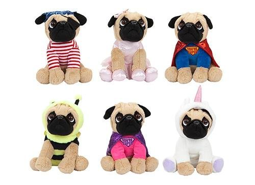 23cm Cosplay Pugs Super Soft Plush Toy Dressed Gift Quality 6 to Choose 3+ (Boy Super Hero)
