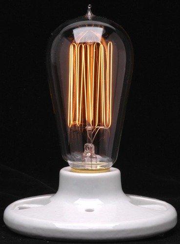 Ferrowatt 19104 - 40 watt 240 volt Squirrelcage Filament European Medium Screw Base Ferrowatt (1910) (F1910-24040)