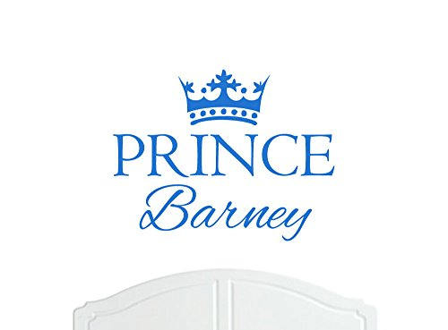 Crown Prince Barney Large Wall Sticker / Vinyl Decal Bed Room / Nursery Art Boy / Baby - Choice of Size and Colours