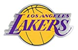 NBA Los Angeles LA Lakers Auto Badge Decal, Hard Thin Plastic, 4.8x3.1 inches