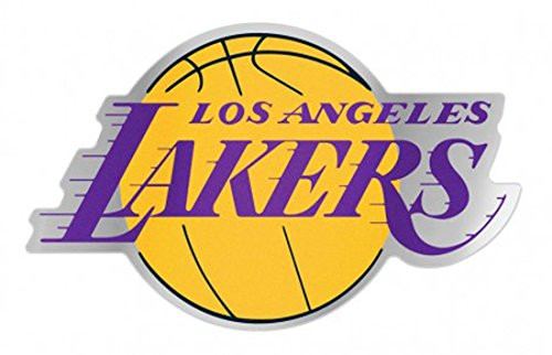 NBA Los Angeles LA Lakers Auto Badge Decal, Hard Thin Plastic, 4.8x3.1 inches by WinCraft