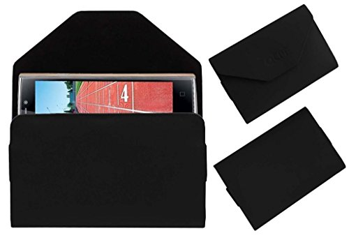 Acm Pouch Case Compatible with Iball Andi Sprinter 4g Flip Flap Cover Holder Black
