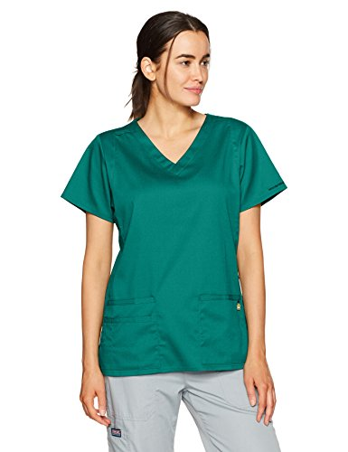 - WonderWink Women's Charlotte V-Neck Top, Hunter Green, X-Large