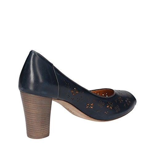 CALPIERRE Zapatos de Salón Mujer 40 EU Azul Cuero