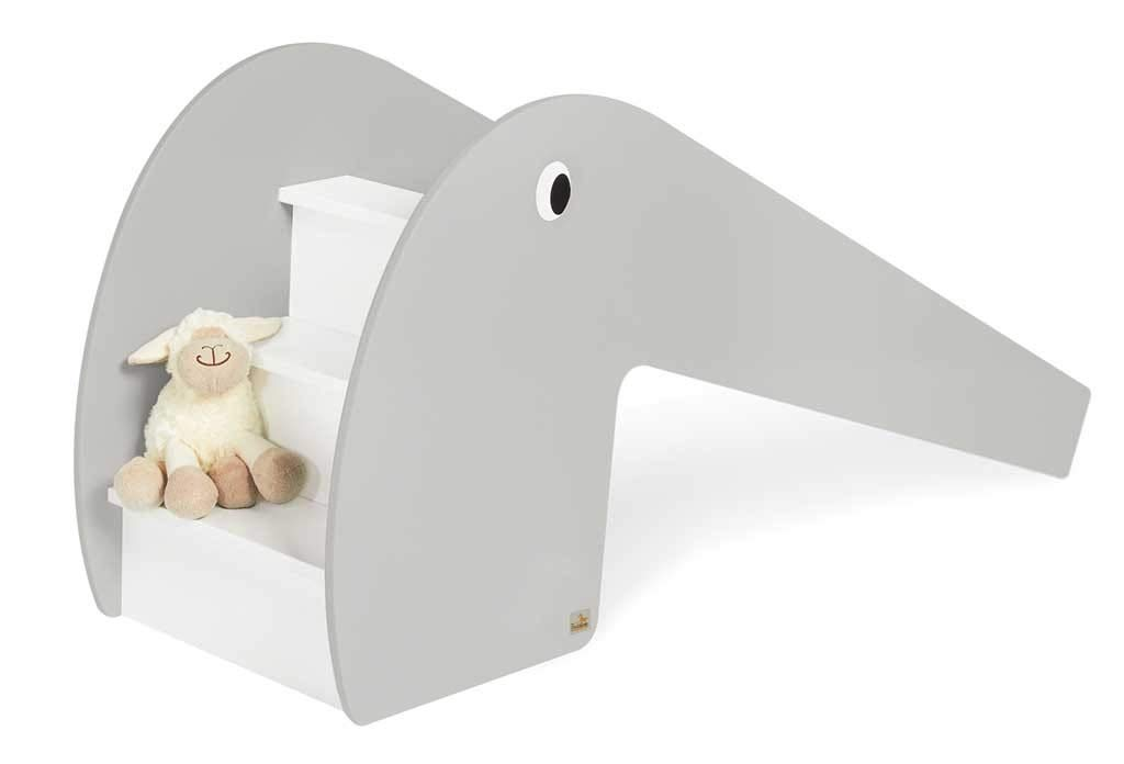 Grey PINOLINO Lotta Indoor Wooden Slide Load 60 kg with 2 Eye Stickers for Children 3 Years and Up Mint