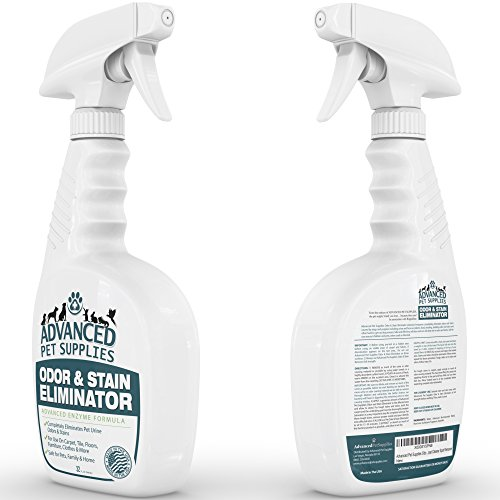 amazoncom advanced pet supplies odor eliminator and stain remover carpet cleaner with odor control technology cat urine and dog pee neutralizer spray