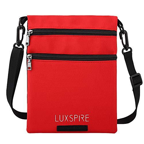 amp; Shoulder Bag body Red Cross Men Casual Small Luxspire Pouch Women Black WwOvqU4nx0