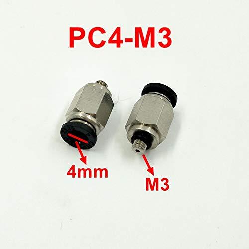 Ochoos 10pcs/lot 4mm Tube M3 Thread Pneumatic Fitting Quick Joint Connector PC4-M3