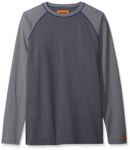 Wrangler Men's Flame Resistant Baseball Tee, dark grey S