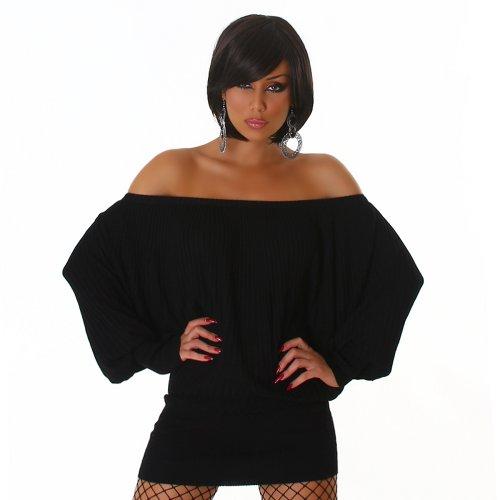 Londres Jela de punto para mujer vestido de murciélago talla única 34,36, 38,40 varios colores negro