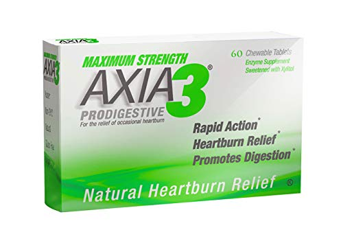 Axia Essentials Max Strength Axia3 ProDigestive Heartburn Relief 60 count (Pack Of 4)