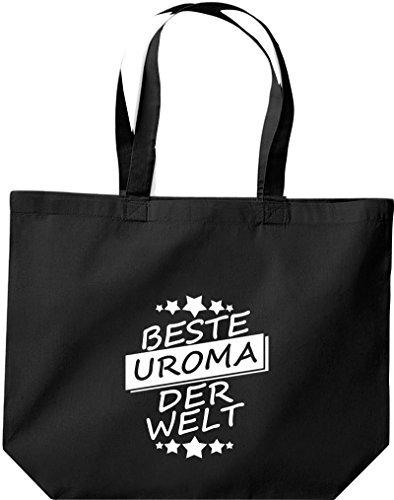 ShirtInStyle grandes Bolsa de compra Mejor UROMA der Welt Negro