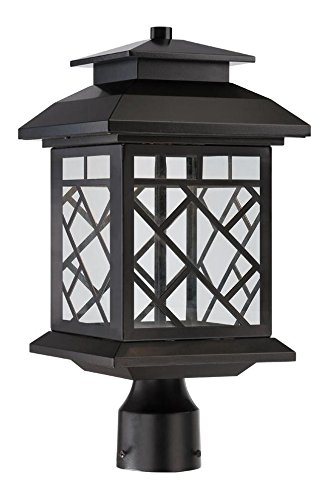 Oil Rubbed Bronze Woodmere 1 Light LED Lantern Post Light by Designers Fountain