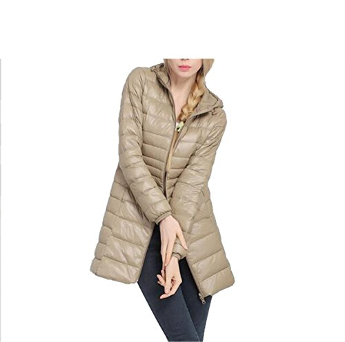 en Ultra Light Duck Down Coat Jacket Slim Medium Long Plus Size Casual Parkas Thickness Overcoat 4 M ()