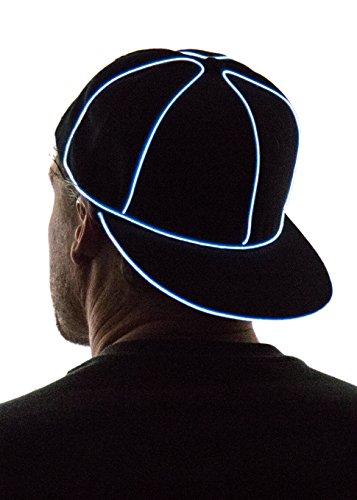 Neon Nightlife Light Up Snapback Hat, Blue -