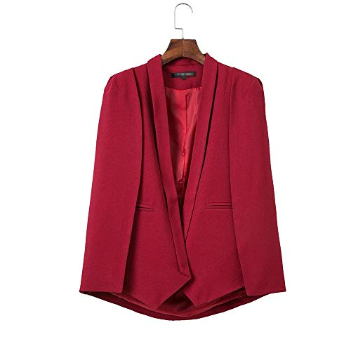 aoliaoyudongyongpin Women Outwears Spring Wine red Navy Blue White Black New Women's Shawl Blazer Cape Jacket ()