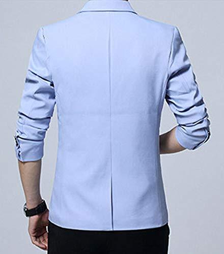 Fit Affaires Blazer Costume Veste De Slim Homme Azur Soirée pTZSawq7