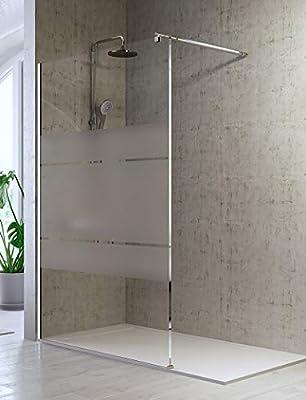 Mampara de Ducha Frontal de 1 cristal fijo - Cristal de Seguridad de 8 mm - Modelo Fresh (90 cm): Amazon.es: Bricolaje y herramientas