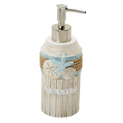 (Zenna Home, India Ink Seaside Serenity Lotion or Soap Dispenser,)