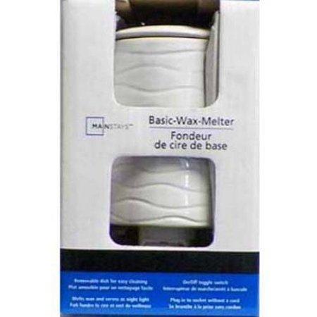 Mainstays acento calentador de cera con cómodo Toggle Interruptor de encendido y apagado, color blanco