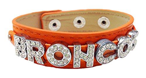 - Broncos Orange Leather Bracelet