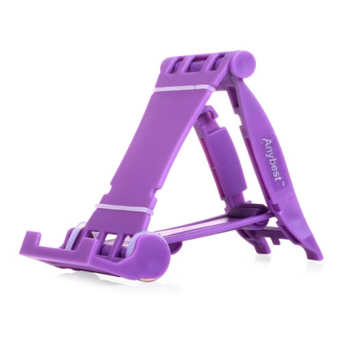 Anybest™ Universal Portable Folding Stand holder for ipad 2,3,4,air for apple iphone and Smart phones (Purple)
